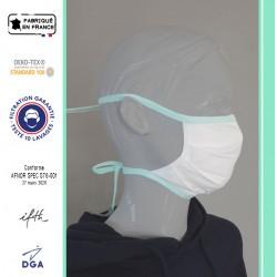 Masque avec liens - DOUBLE épaisseur - 100 % COTON